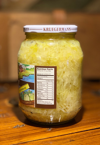 Kruegermann Berlin Style Sauerkraut 32oz