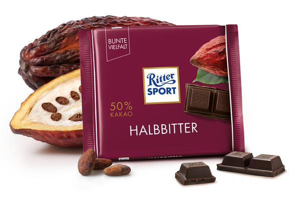 Ritter Sport Halbbitter 3.5 oz (100g)