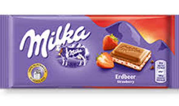Milka Erdbeer-Strawberry 100g