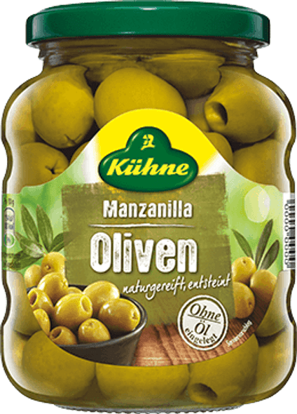 Kuhne Manzanilla Olives 370ml
