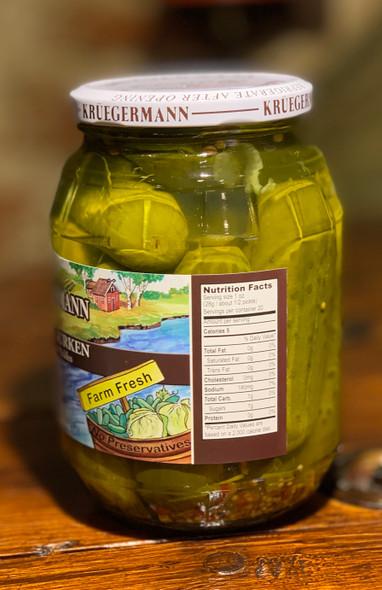 Kruegermann Frisch-Gurken Pickles 32oz