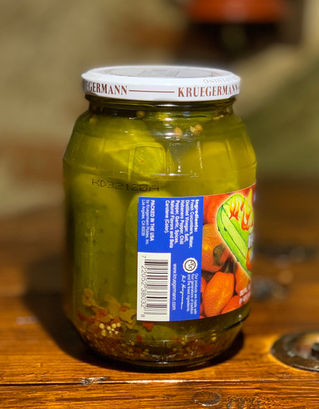 Kruegermann Hot Habanero Dill Pickles 32oz
