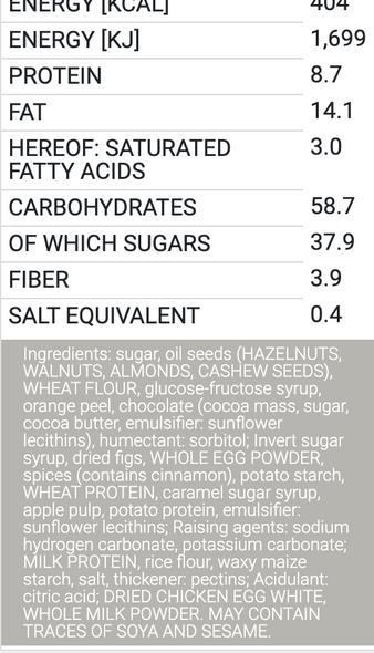 Wicklein Meistersinger Sorted Gingerbread Cookies mit 20% Nussen 7.05oz (200g)