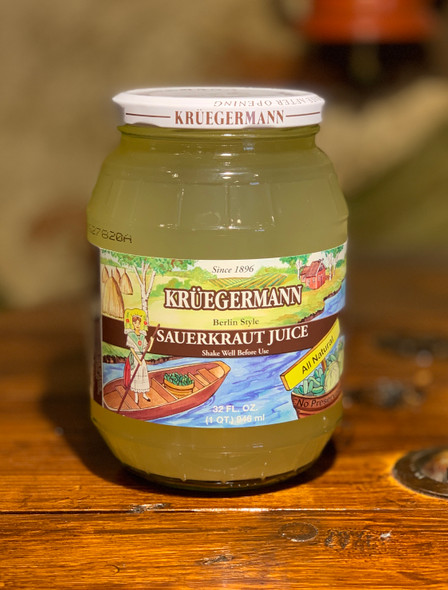 Kruegermann Sauerkraut Juice All Natural 32oz
