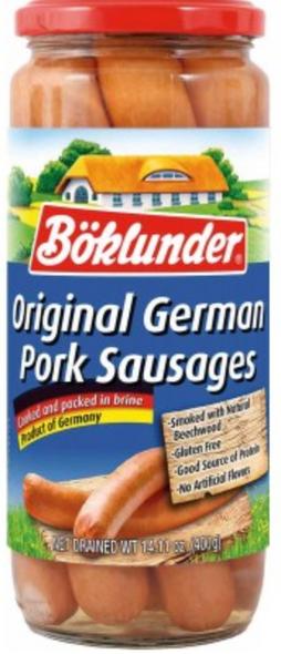 Boklunder Original German Pork Sausage 25.4oz