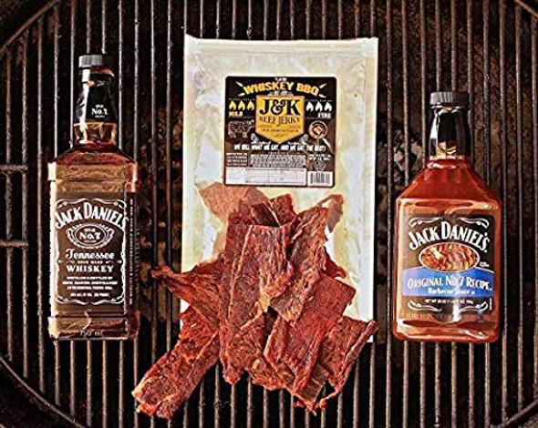 J&K Beef Jerky Whiskey BBQ 8oz-1/2 Pound