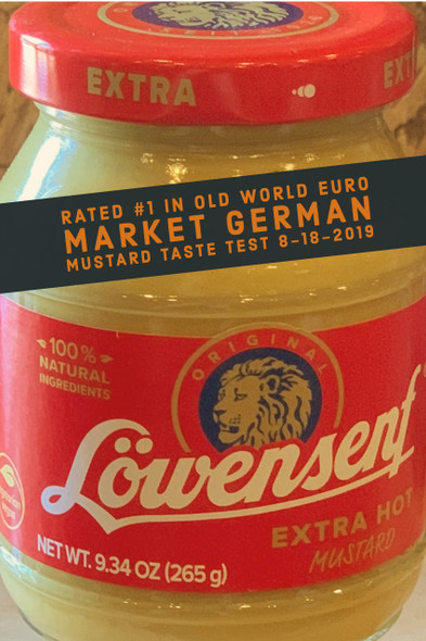 Lowensenf Extra Hot Mustard 9.3oz