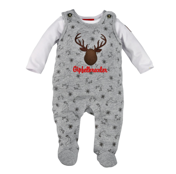 Baby Full Body Romper Deer Grey