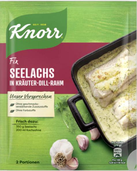 KNORR Fix für Seelachs in Kräuter-Dill-Rahm 78g