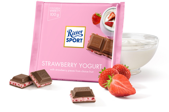 Ritter Sport Strawberry Yogurt 3.5oz (100g)