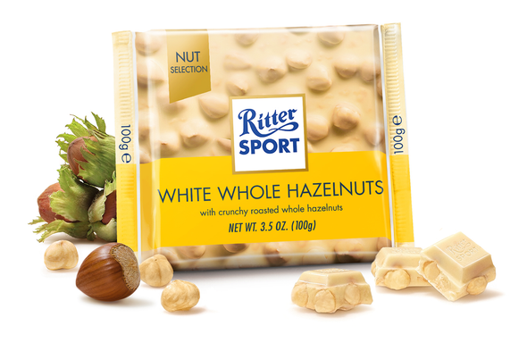 Ritter Sport White Whole Hazelnuts 3.5oz (100g)