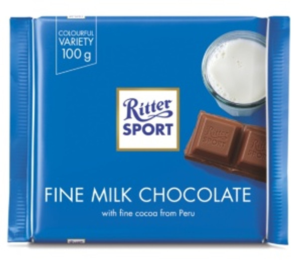 Ritter Sport Fine Milk Chocolate 3.5oz (100g)