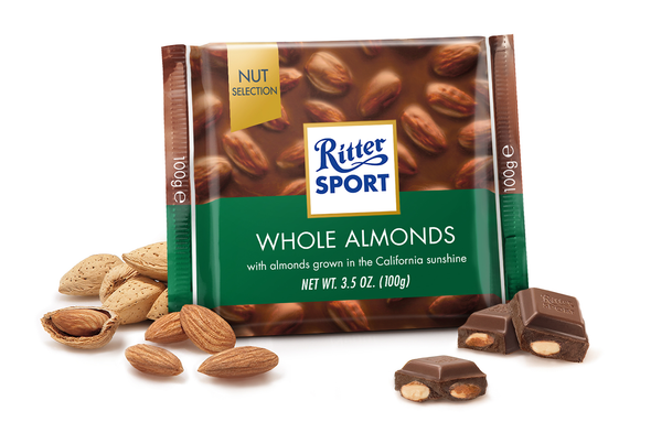 Ritter Sport Whole Almond 3.5oz (100g)