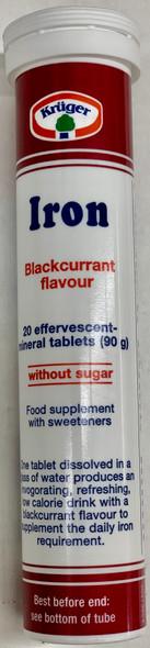 Kruger Iron - 20 effervescent mineral tablets - 90mg