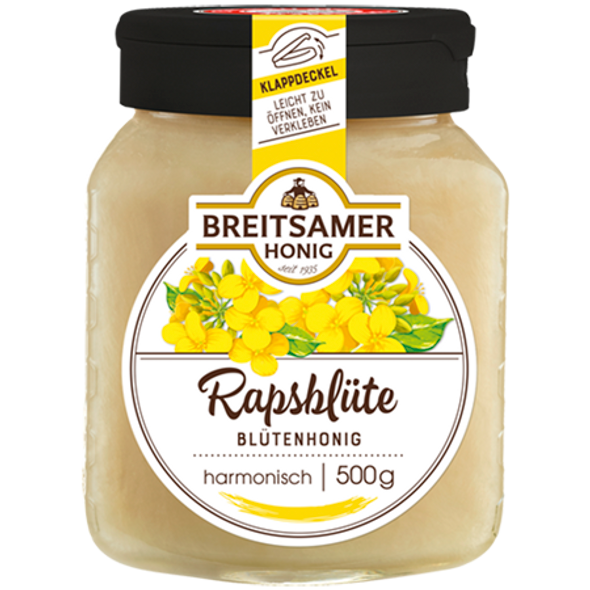 Breitsamer Rapsflower Honey Creamy 500g
