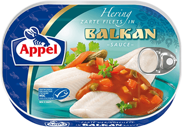 Appel Herring Fillets in Balkan Sauce 200g