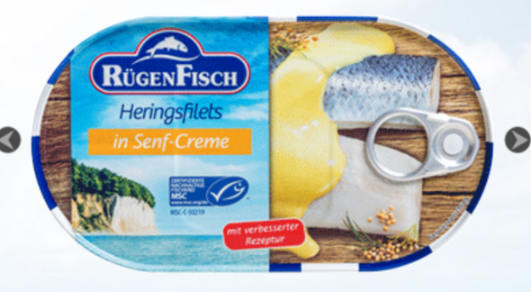 Rügen Fisch Herring Fillets in Mustard Sauce 200g