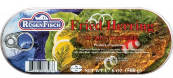 Rügen Fisch Fried Herring in Spicy Marinade 500g