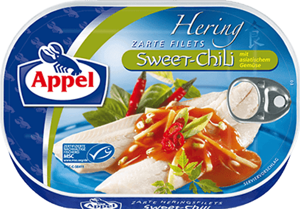 Appel Herring Fillets Sweet Chili 200g