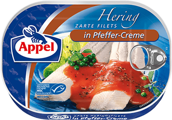 Appel Herring Fillets in Pfeffer-Creme 200g