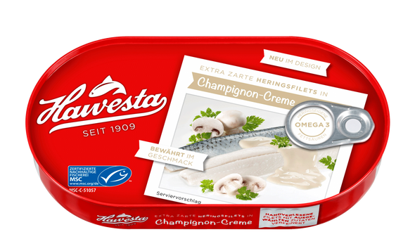 Hawesta Herring Fillets in Campignon-Creme 200g