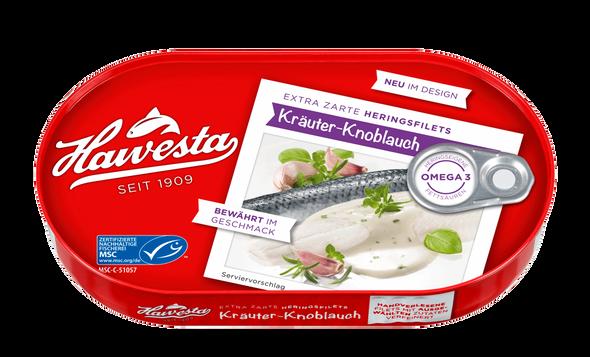 Hawesta Herring Fillets Krauter-Knoblauch 200g