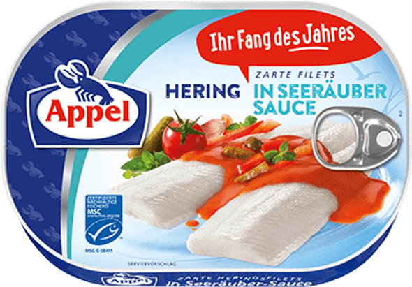 Appel Herring Fillets in Seerauber Sauce 200g