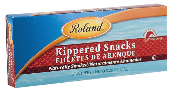 Roland Herring Kippered Snacks Smoked 3.53oz (100g)