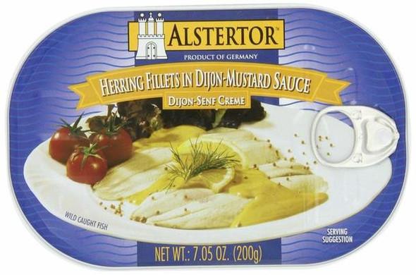 Alstertor Herring Fillet in Dijon Mustard Sauce 7.05oz (200g)