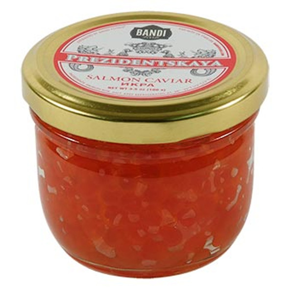 Prezidentskaya Salmon Caviar in Glass Jar 3.5oz