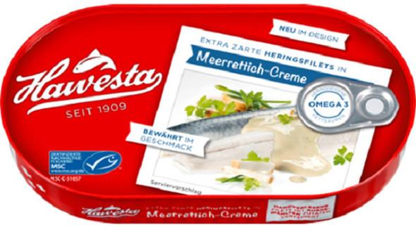 Hawesta Herring Fillets Meerrettich-Creme 200g