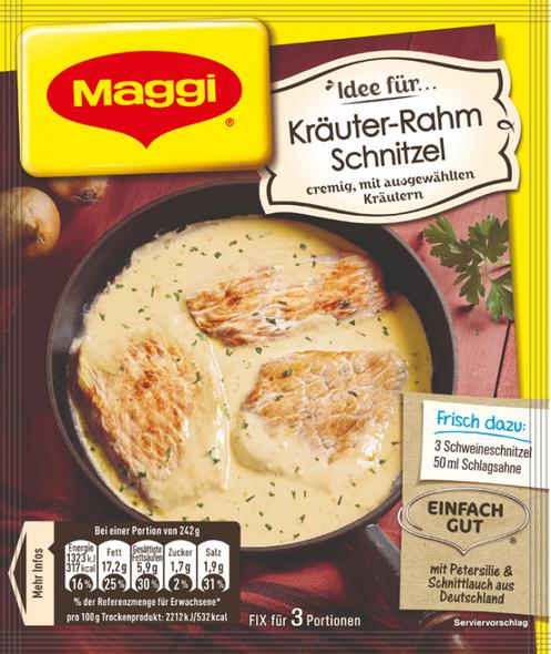 Maggi Kräuter-Rahm Schnitzel Fix für 42g