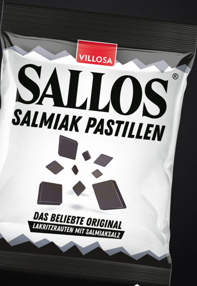 Sallos Licorice Salmiak Pastillen 150g