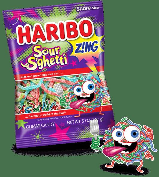 Haribo Z!ng Sour S'ghetti 5oz.