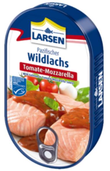Larsen Wild Salmon Tomato Mozzarella 200g