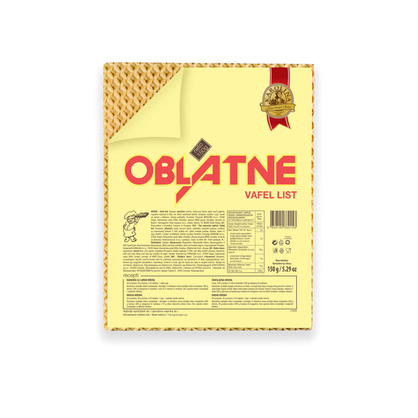 Karolina Oblatne Wafer 5 Sheets 150g