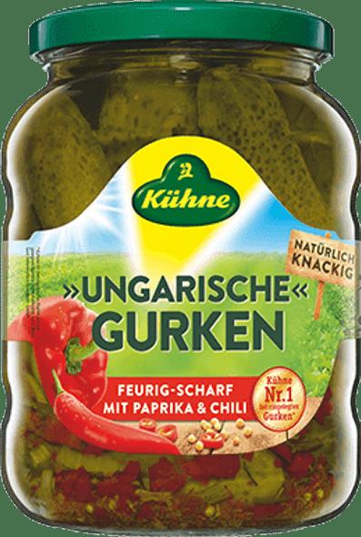 Kühne Ungarische Gurken Feurig-Scharf 720ml