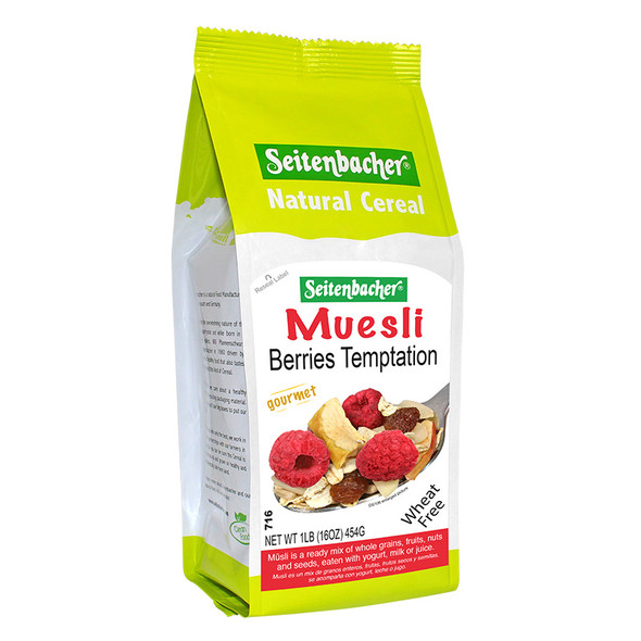 Seitenbacher Muesli Berries Temptation Gourmet Natural Cereal 454g