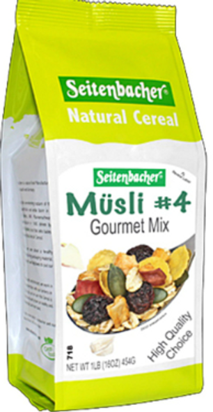 Seitenbacher Natural Cereal muesli 4 Gourmet Mix 454G