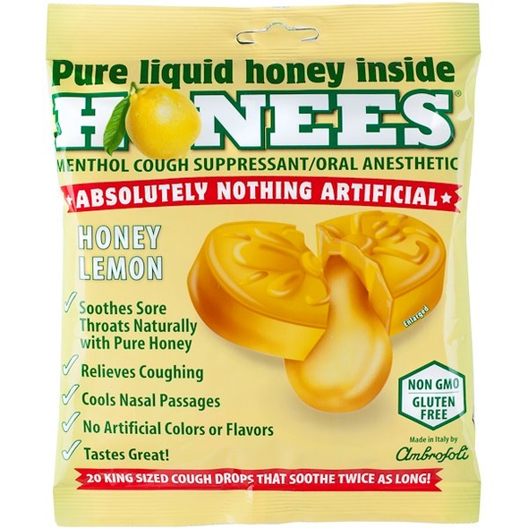 Pure Liquid Honey inside Honees Menthol Cough Suppressant\Oral Anesthetic