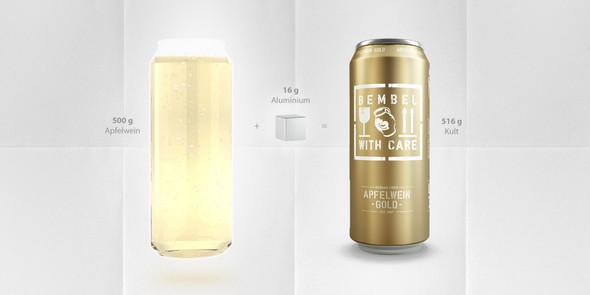 Bembel Apfelwein -Gold- Can 5% alc. 16.9 floz