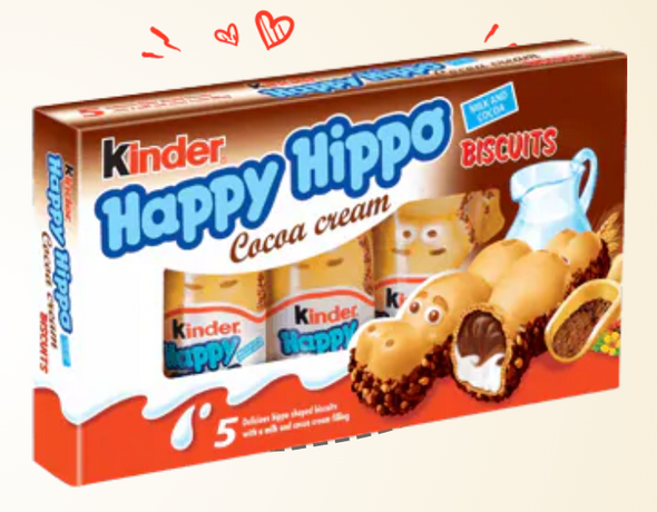 Kinder Happy Hippo cacao 5 pack 3.7oz (104g)