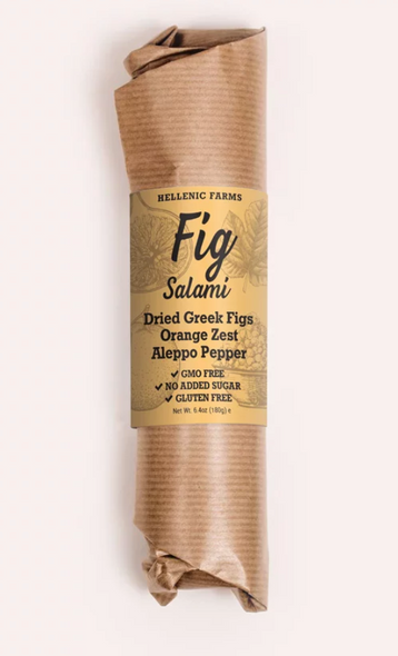 Hellenic Farms Fig Salami  W/ Orange Zest 6.4oz (180g)