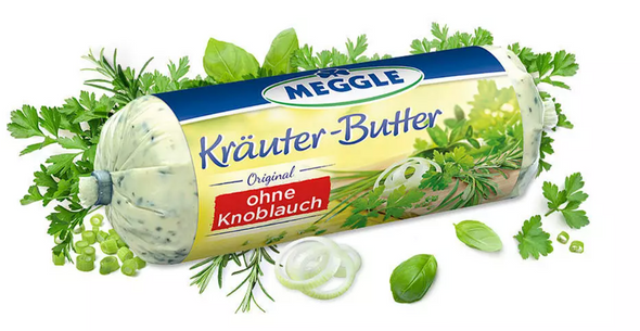 Meggle Krauter-Butter 4.38oz (125g) (refrigerated)