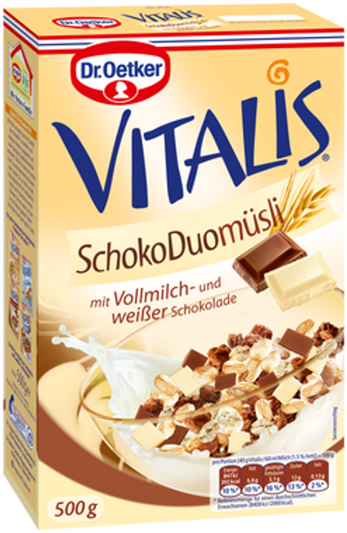 Dr. Oetker Vitalis Chocolate Duo Muesli 500g