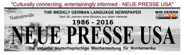 Neue Presse USA Weekly Newspaper