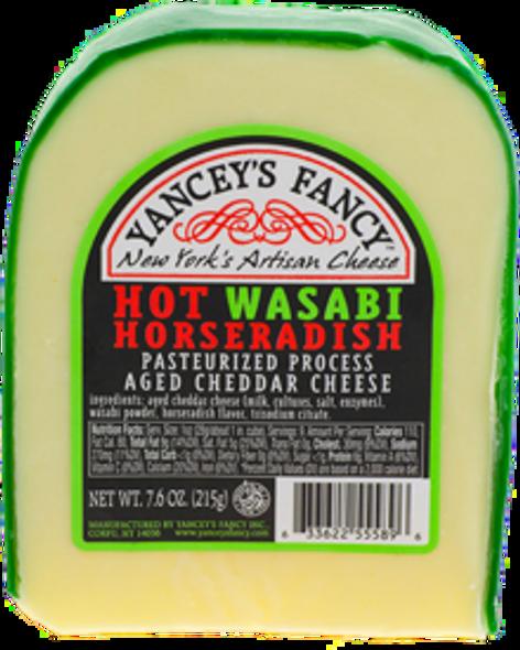 Yancey's Fancy Hot Wasabi Horseradish Cheese 7.6 oz (refrigerated)