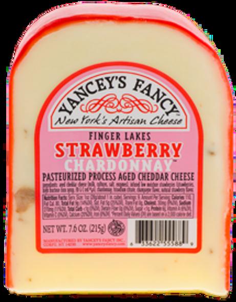 Yancey's Fancy Strawberry Chardonnay Cheese 7.6 oz (refrigerated)