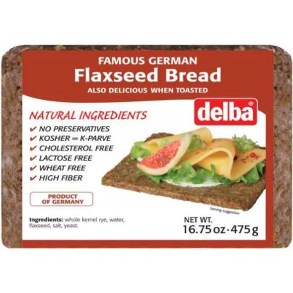 Delba Flaxseed Bread 16.75 oz (475g)