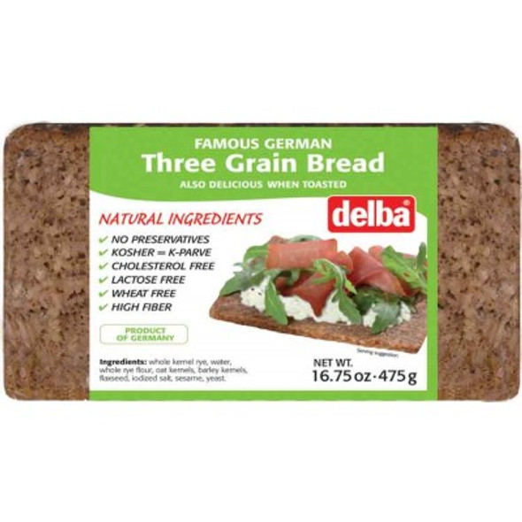 Delba Three Grain Bread 16.75 oz (475g)